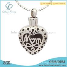 Silver coração memorial cinzas medalhão, creme especial cinzas jóias