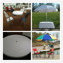 94cm Small Plastic Folding Round Umbrella Table (HQ-Y94)