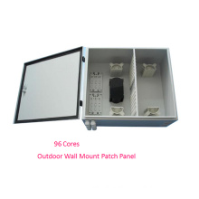 96 Cores Outdoor Wall Mounted Optic Fiber Enclosure