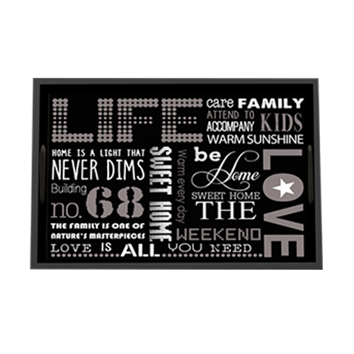 The black letters household tray