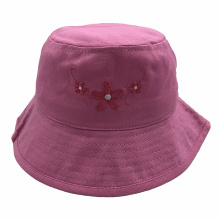 Pink cotton bucket hats with custom logo sun bob bucket caps for adults and kids cotton hat