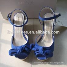 Novas cunhas japonesas para sandálias de sapatos femininos