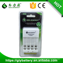 Geilienergy 2.4V 120mAh NICD NIMH AA AAA Battery Charger With 4 Slots