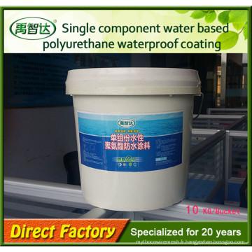 Peinture imperméable à base de polyuréthane à base d'eau à composant unique