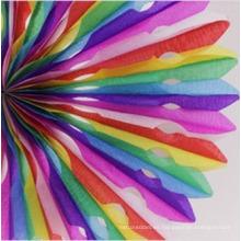 Ventilador de papel de escama de panal de nieve para decoraciones de banquetes de boda