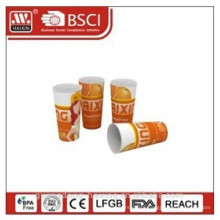 Popular plastic in-mould labeling cup with full printing 24OZ/0.68L