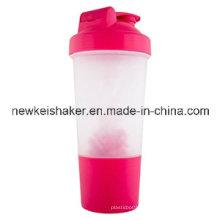 Vente en gros de shaker de protéines de 500 ml avec boule en plastique