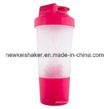 Wholesale 500ml Protein Shaker with Plastic Wire Ball