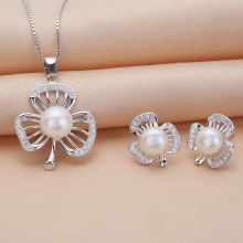 Pearl Pendant Necklace and Earring Set
