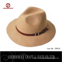 Оптовые женские шерстяные шляпы Fedora Мужчины воодушевили зимнюю шляпу Дизайнер одежды Осень Trilby Caps Womens Spring