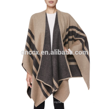 15JW0220 women wholesale acrylic soft feeling poncho wrap