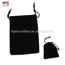 Cheap wholesale black velvet bag