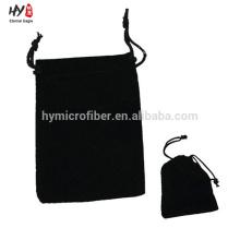 Cheap atacado saco de veludo preto