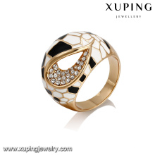 14395 xuping fashion product new design big ring in 18k plating with copper alloy for women