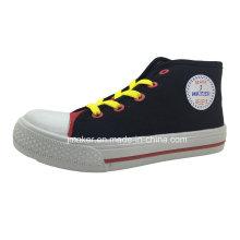 Populäre Art-hohe Knöchel-Kindereinspritzungs-Segeltuch-Schuhe (X172-S & B)