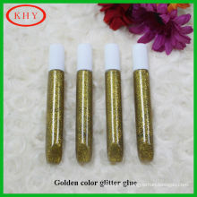 Non toxic conform to EN71 golden color glitter glue pen as gift set
