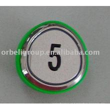 Botão de elevação (anel verde), levantar peças
