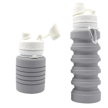Bottiglia pieghevole della bevanda dell'acqua del silicone di sport all'aperto