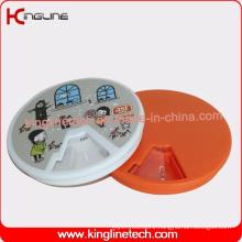 Plastic Round 7 Days Cute Weekly Pill Box (KL-9065)