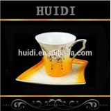 Wholesale mix color flower design porcelain cup and saucer set from Chaozhou factory