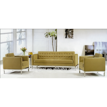 2015 office sofa with bounded leather and aluminium frame