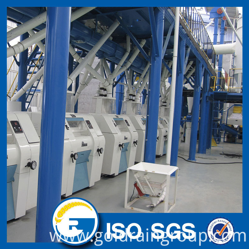 100 tpd maize flour mill