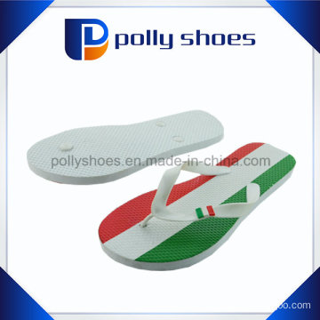 Colorful Stripe Printed Insole Rubber Men Slipper Wholesale