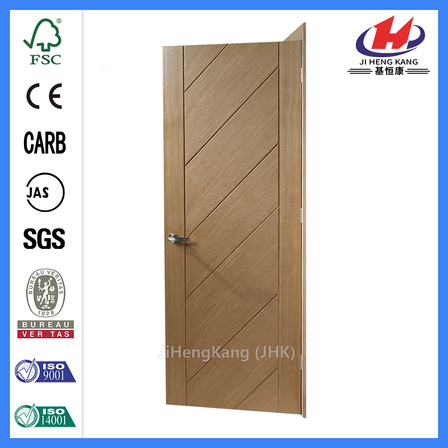 JHK-FC07 cheap Groove solid timber flush swing door