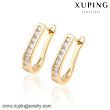 92294 Fashion Hot Sale Mexico Style Cubic Zirconia Jewelry Earring Huggie