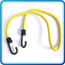 Custom Bungee Cord with Black Plastic Hook for Luggage Bag