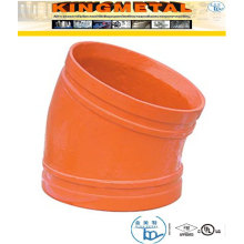 300 Psi Ductile Iron 11.25 Degree Grooved Elbow Fittings