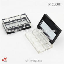 Clear see through 8 colors eye shadow palette