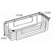 Cesta rectangular de acero inoxidable para montaje en pared