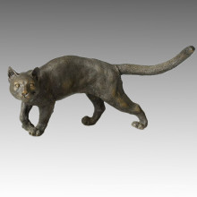Statue animale Cat Walking Bronze Sculpture, Milo Tpal-050