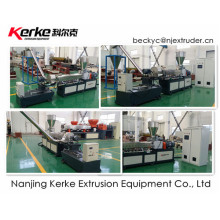 PE con CaCO3 máquina de extrusión de granulación de tornillo gemelo