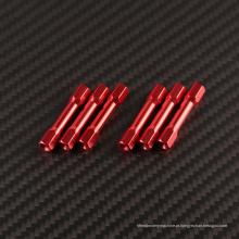 As linhas de alumínio rosqueadas M3 enchem o macho do espaçador do espaçador