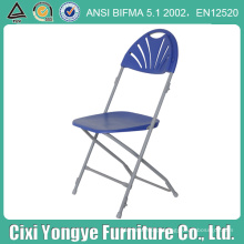 Azul Fan Back Moon cadeira dobrável para casamentos