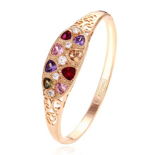 50998 Xuping Jewelry fashion colorful stone brass bangle with 18K gold plated