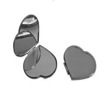 Miroir compact de petit coeur pour la promotion (BOX-11)