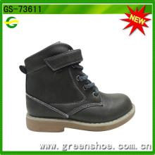 Высокие имитация кожаный ботинок для ребенка мальчиков