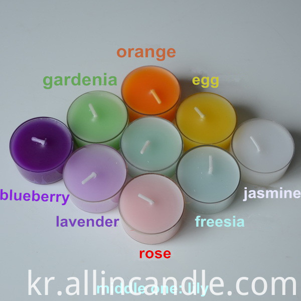 tealight candle color