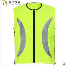 Gelbe Farbe hohe Sichtbarkeit reflektierende Sicherheitsweste für Radfahren