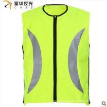 Жёлтый цвет с высокой видимостью отражательный защитный жилет для езды на велосипеде