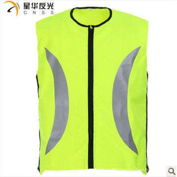 yellow color high visibility reflective security vest for cycling
