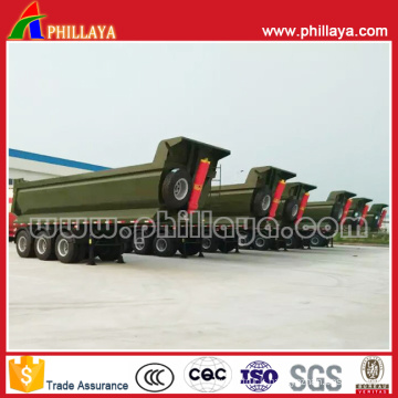 3axle U Shape Front Lifting Dump Tipper Tipping Truck Semi Trailer