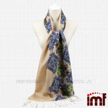 Meia impressão floral meio sólido simples cor lenço mulheres