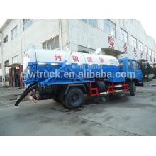 Dongfeng 153 Limpieza de aguas residuales tanque y camión de succión dos en un camión de aspiración de aguas residuales