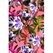 Красочные цветы печатных ткань для купальников (ASQ089)