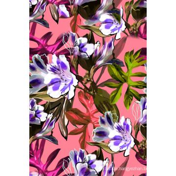 Bunter Blumen-Druckstoff für Badebekleidung (ASQ089)