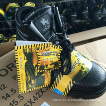 Arbeitsschuhe Leder Sicherheitsschuhe (PU Leder Obermaterial + Gummisohle)